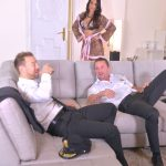 Anissa Kate – 2 Pilots, 1 Stewardess: Hardcore Double Penetration in Hotel!