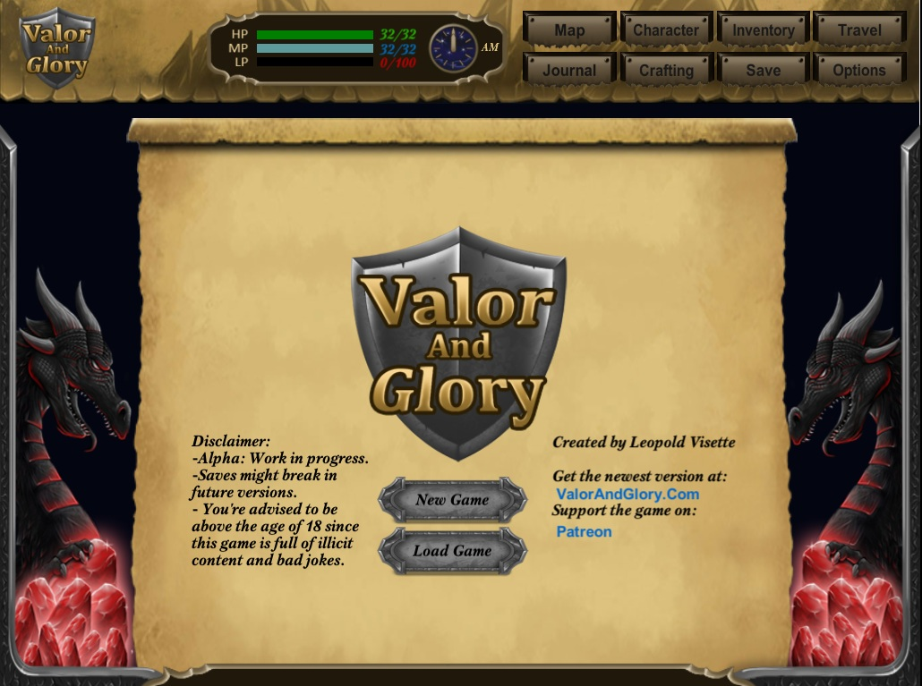 Valor and Glory - Version 0.1.1d - Free Download