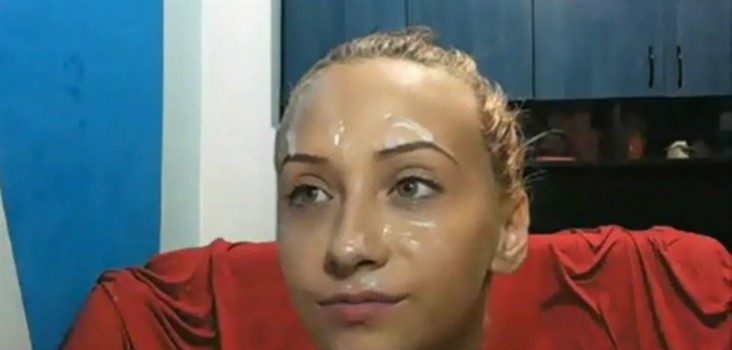 amateur girlfriend with cum on her face
