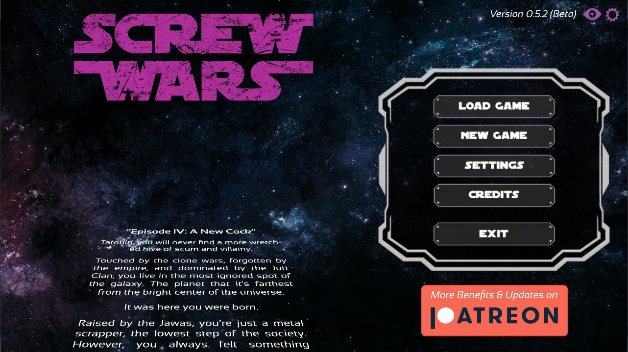 Screw Wars Episode IV – A New Cock – Version 0.5.2