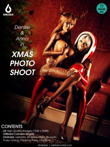 Denise & Anna in Xmas Photo Shoot