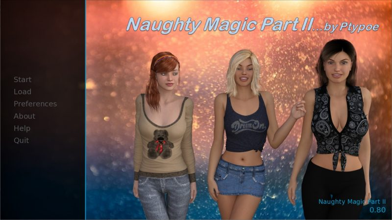 Naughty Magic Part II - Version 0.80 (Pc, Mac, Android)
